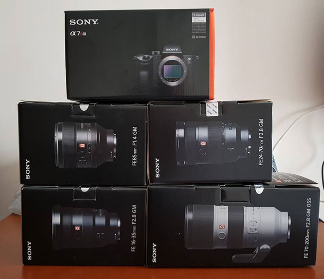 Sony A7rIII with Lenses